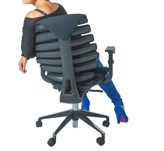 Kantoormeubelen Plus Ruggengraatstoel bureaustoel