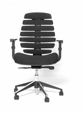 Bureaustoel Directie S210 Zwart Leer Met Hout.Bureaustoel Kantoormeubelen Plus