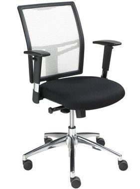 ABC Kantoormeubelen Bureaustoel Wit-Zwart 1412