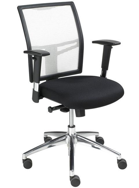 Bureaustoel De Wit.Bureaustoel Wit Zwart 1412 Kantoormeubelen Plus