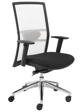 ABC Kantoormeubelen Bureaustoel wit/zwart 1514