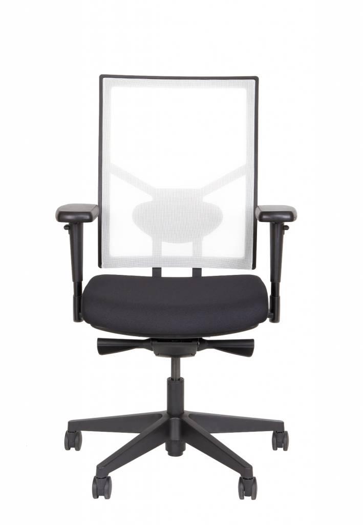 Bureaustoel De Wit.Npr Bureaustoel Zwart Wit Kantoormeubelen Plus