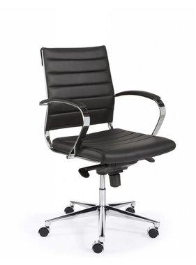 ABC Kantoormeubelen Bureaustoel Design Luxe Zwart