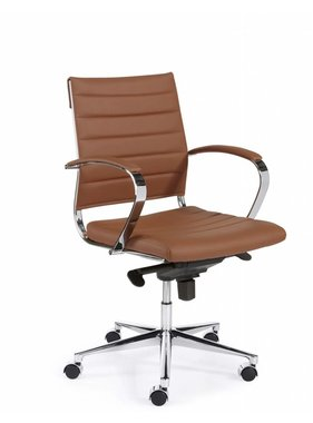 ABC Kantoormeubelen Bureaustoel Design Luxe Bruin