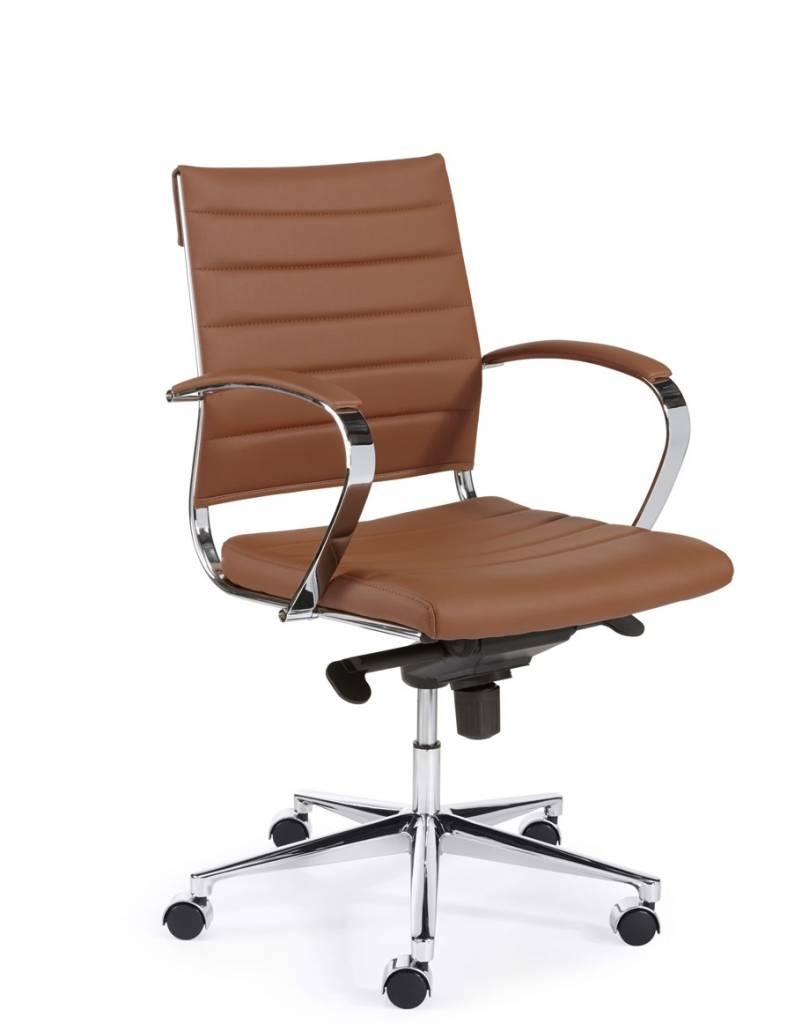 Leren Bureaustoel Bruin.Bureaustoel Design Luxe Bruin