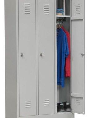 ABC Kantoormeubelen Locker garderobekast 3- delige voor opbergen van kleding