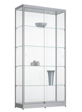 Grote Glazen Vitrinekast.Glazen Vitrinekast 200x50x50 Kantoormeubelen Plus