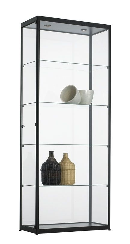 Grote Glazen Vitrinekast.Glazen Vitrinekast 200x80x40