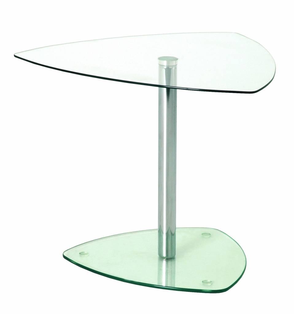 Bijzettafel In Glas.Glazen Bijzettafel Of Salontafel Voor De Receptie Op Kantoor Mooi