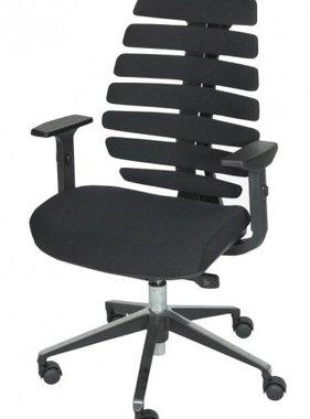Schaffenburg Bureausstoel 101 zwart gestoffeerd alu pol