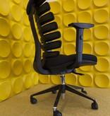 Schaffenburg Schaffenburg bureaustoel serie 101 zitting en rug , stervoet gepolijst incl. schuifzitting. 1 jaar garantie