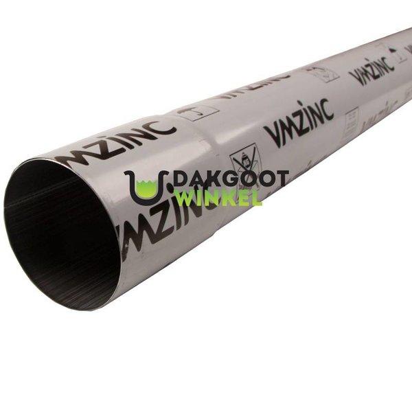 Regenpijp 80mm Anthra zink 0.65 dik 2 meter