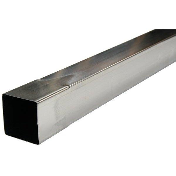 Regenpijp zink vierkant 80x80 lengte 3 meter. 0.70mm dik