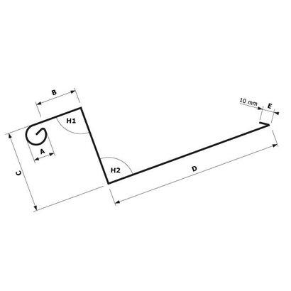 Zetwerk zink - Dakgoot op maat Type 1.1