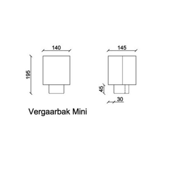 Zinken vergaarbak 60mm rond Mini