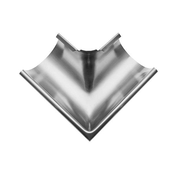 Buitenhoek mastgoot M333. 90 graden. zink