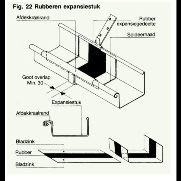 Expansiestuk mastgoot M333 compleet met seperaat kraalstuk Rheiznink