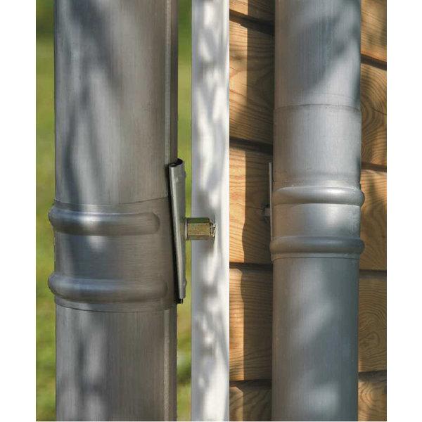 Regenpijp 80mm Quartz zink 0.65 dik 2 meter