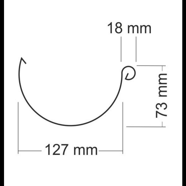 Zinken mastgoot M280 Rheinzink lijmgoot - 3 meter lengtes 0.7mm dik