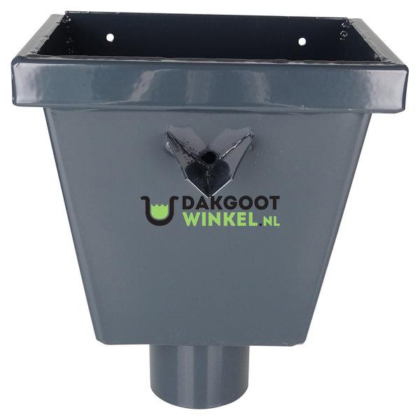 Vergaarbak junior 80mm aluminium in Ral