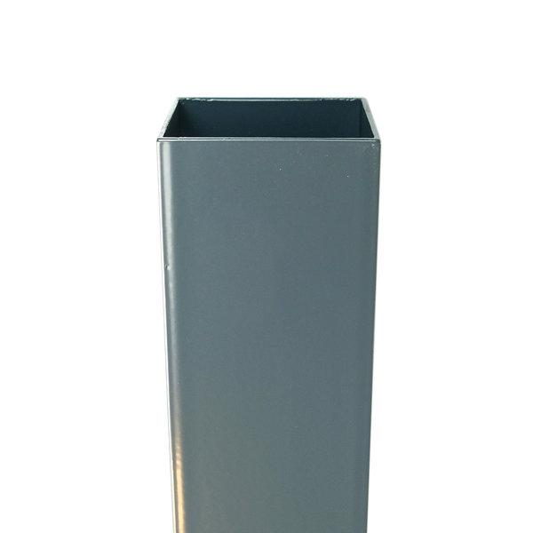 Aluminium vierkante regenpijp 80x80 mm 2 meter inwendige verbinding