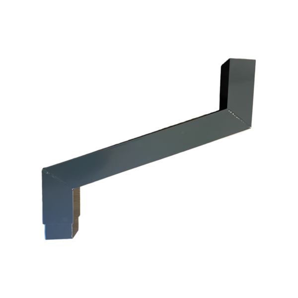 Aluminium vierkante regenpijp 80x80mm sprongstuk  t/m 125cm.