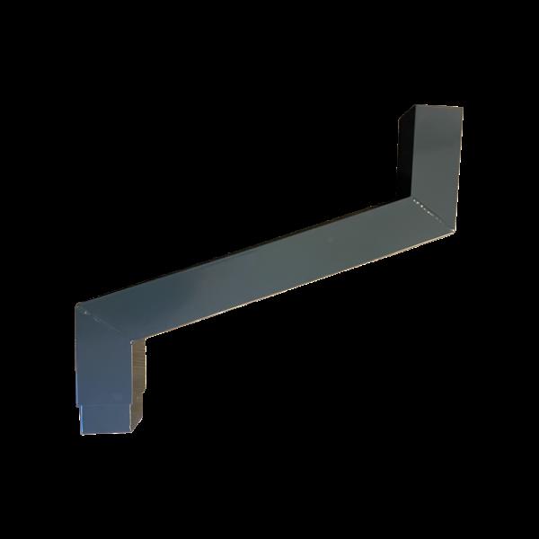 Kallos Aluminium vierkante regenpijp 80x80mm sprongstuk  t/m 125cm.