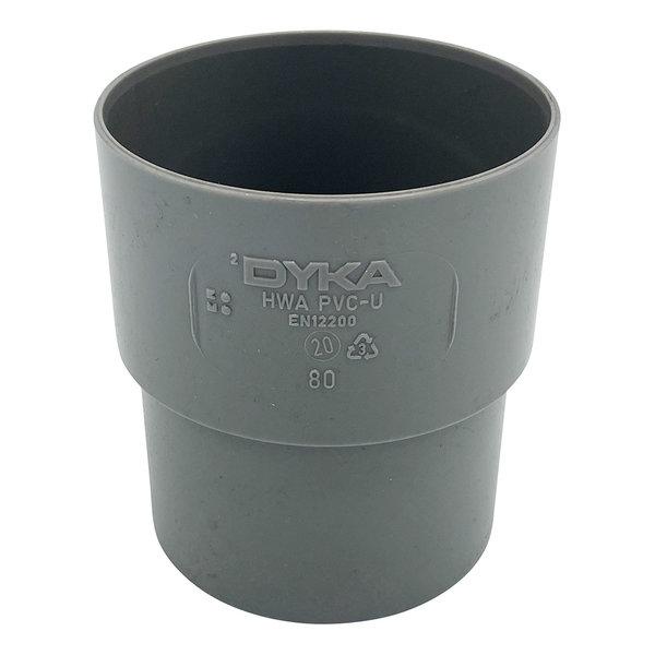 Verbindingsmof PVC 80mm, mof/spie verjongd, RAL7037