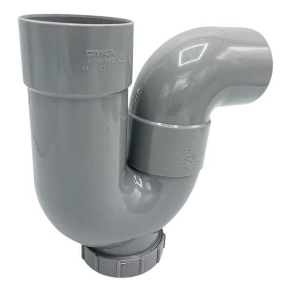 PVC sifon met 87.5 graden bocht 80mm riool