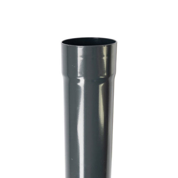 Aluminium regenpijp rond 80mm 2.0mm dik 1 meter in Ral