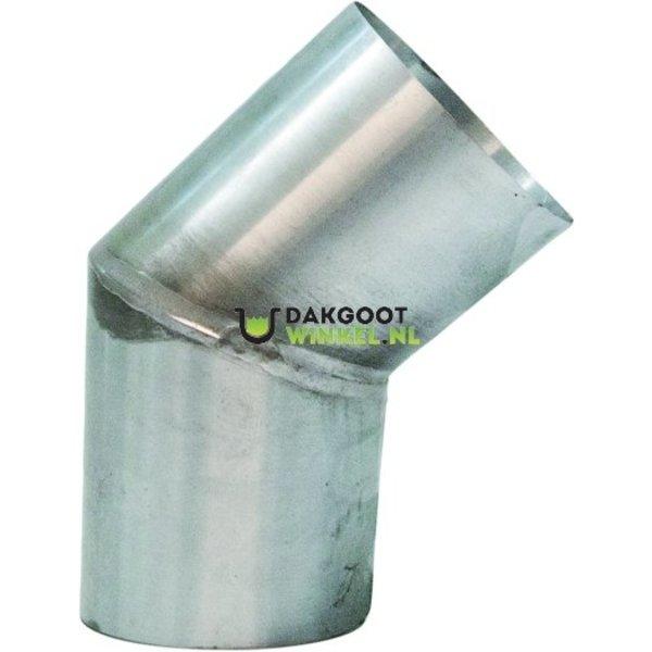 Zinken bocht 45 graden zink 80mm verstek