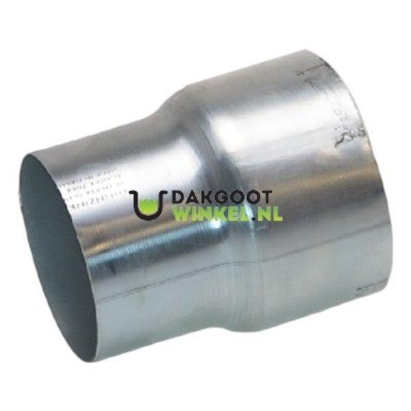 Regenpijp verloopstuk rond 80mm naar 70mm. zink