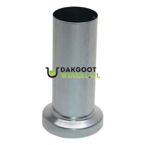 Montageschuifstuk zink 80mm rond