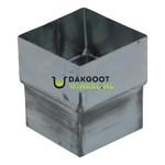 Verbindingsmof zink 80x80mm vierkant