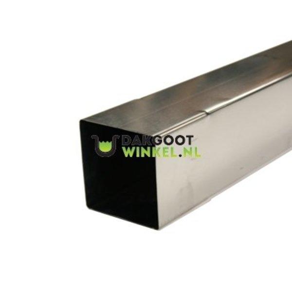 Regenpijp zink vierkant 100x100 lengte 2 meter. 0.70mm dik