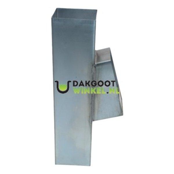 Bladafscheider zink 100x100mm vierkant + rooster