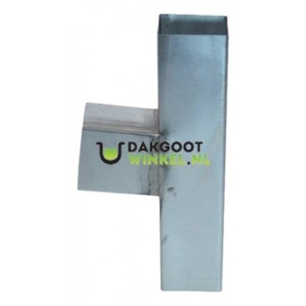 T-stuk zink 80x80mm vierkant 85 graden