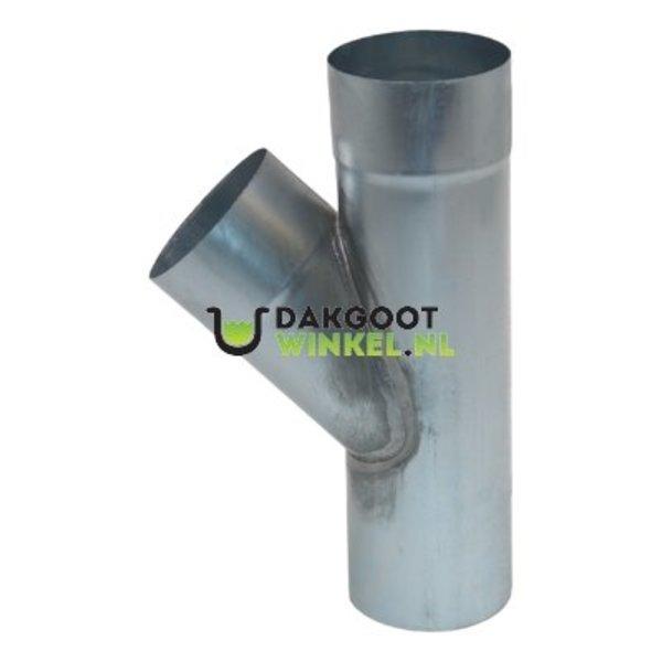 T-stuk zink 100mm rond 45 graden