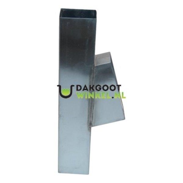 Bladafscheider zink 80x80mm vierkant + rooster