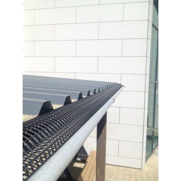 Dakgoot bladvanger. bladrooster Diameter 150mm. 3 meter