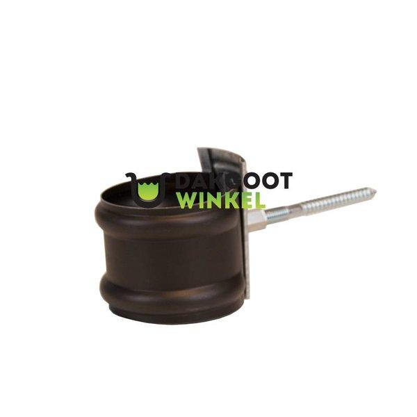 Zelfblokkerende beugels m10 wrong 80mm Anthra met houtschroefstift