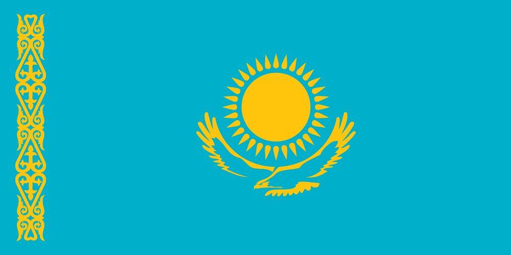 vlag kazachstan afbeelding en betekenis kazachstaanse