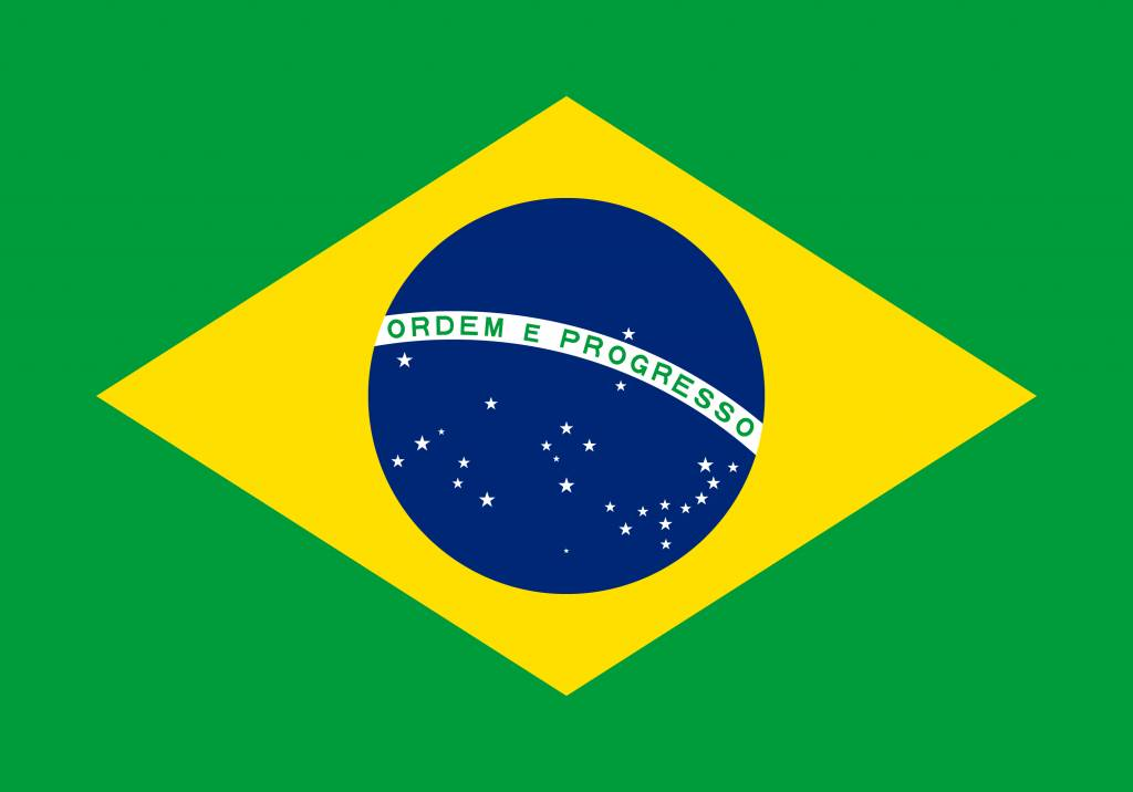 brazili 235 vlag vector country flags