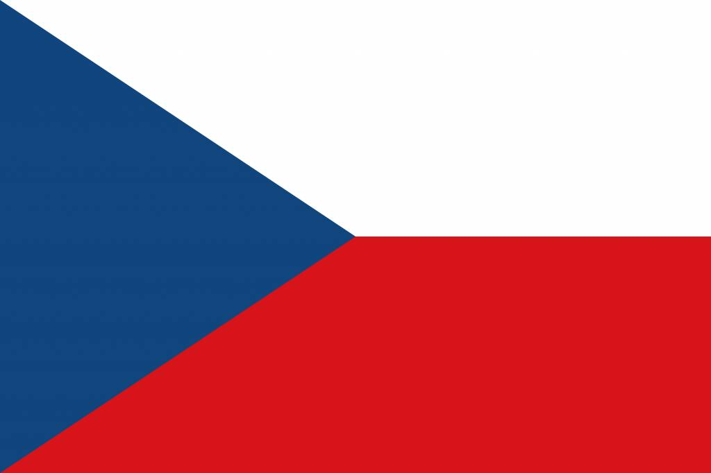 The Czech Republic flag icon - country flags