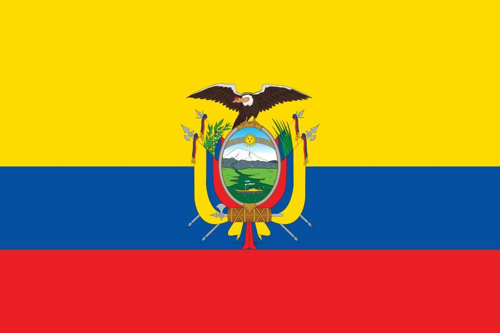 Ecuador flag vector - country flags