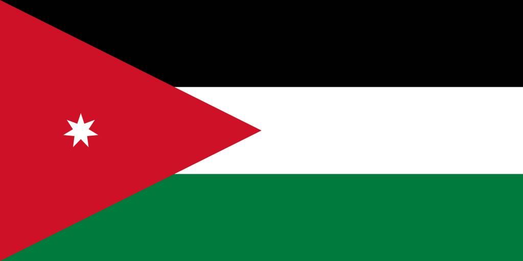 Jordan flag vector - country flags