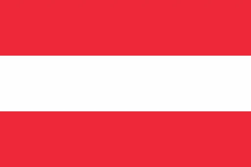 oostenrijk vlag kleurplaat country flags