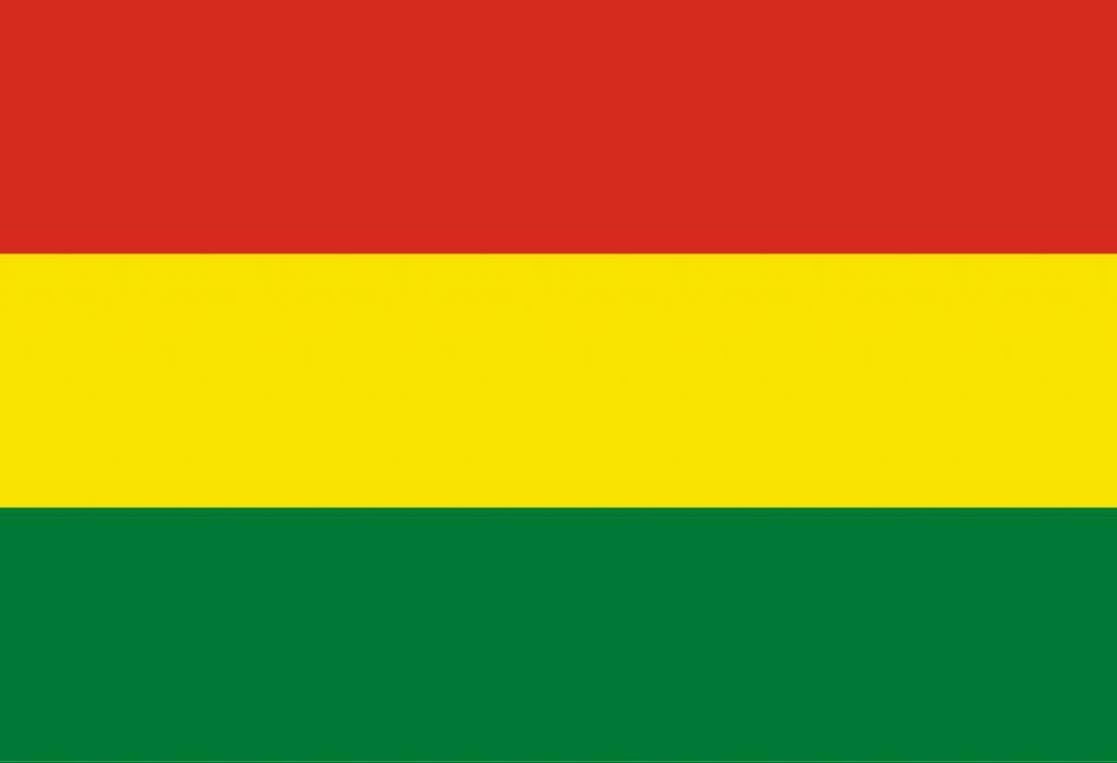 bolivia vlag kleurplaat country flags