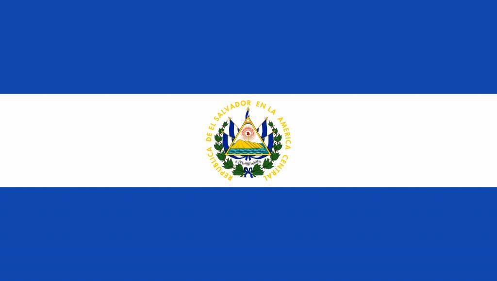El Salvador Flag Coloring Country Flags