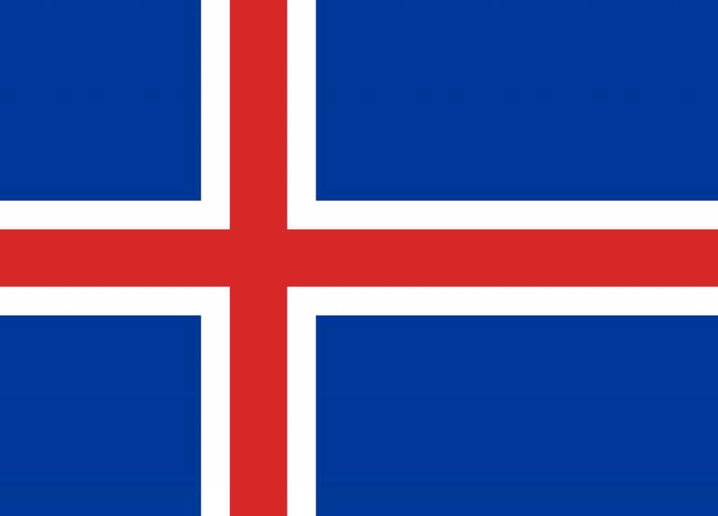 ijsland vlag kleurplaat country flags